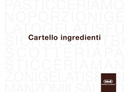 Cartello ingredienti 2021